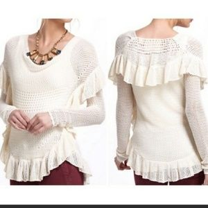 Anthropologie Angel of the North Knit Sweater
